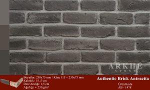 Kültür Tuğlası Authentic Brick Antracita