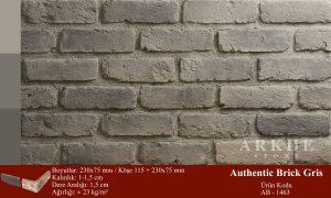 Kültür Tuğlası Authentic Brick Gris