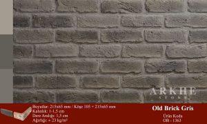 Kültür Tuğlası Old Brick Gris