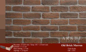 Kültür Tuğlası Old Brick Marron