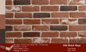 Kültür Tuğlası Old Brick Rojo