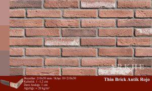 Kültür Tuğlası Thin Brick Antik Rojo