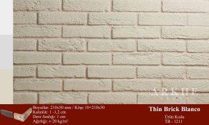 Kültür Tuğlası Thin Brick Blanco