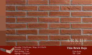 Kültür Tuğlası Thin Brick Rojo
