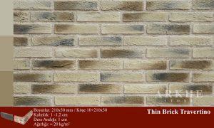 Kültür Tuğlası Thin Brick Travertino